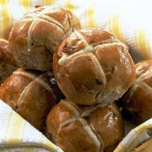 Easter Hot Cross Buns (Breadmaker recipe)