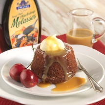 Figgy and Molasses Puddings with Caramel Sauce