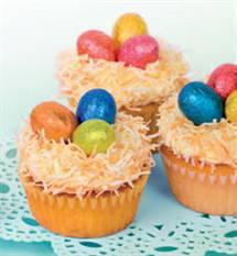Easter Coconut and Vanilla Cupcakes