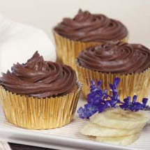 Banana Muffins with Chocolate Icing