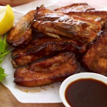Smokey Pork Spare Ribs With Treacle Dipping Sauce