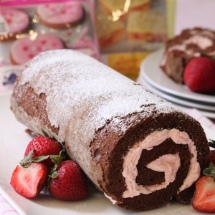 Chocolate Roulade with Chantilly Cream