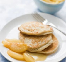 Ricotta Pancakes with Glazed Pears
