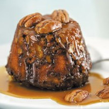 Pecan and Golden Syrup Puddings