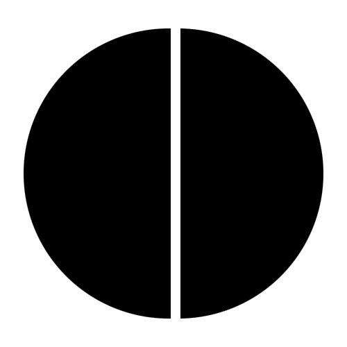 how to cut circle in half illustrator