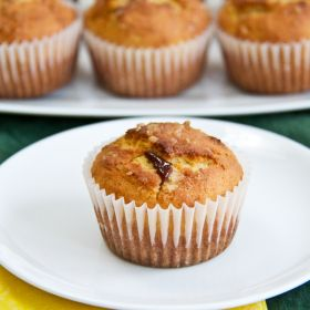 Coconut and Jam Muffins