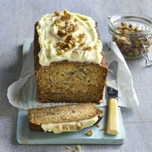 Nutty Banana Loaf with Cream Cheese Icing