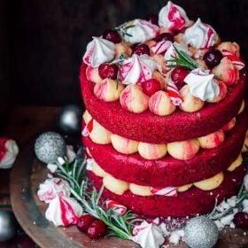 Christmas Cake Ideas.Red Velvet Christmas Cake