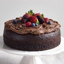 Strawberries And Cream Chocolate Cake