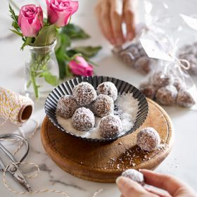 Chocolate Rum and Raisin Balls - Gluten Free
